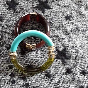 Bangle and cuff bracelet set